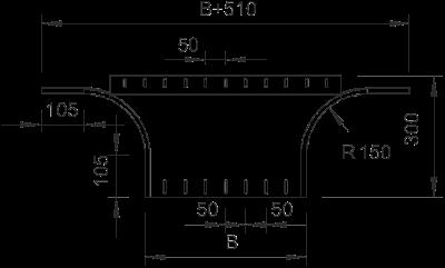 Схема Т-образное/крестовое соединение 300-550 мм — арт.: 7002696