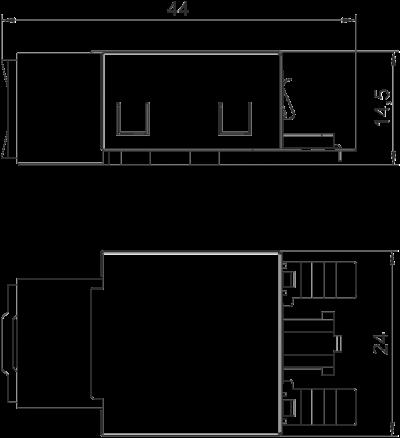 Схема Телекоммуникационный модуль RJ45, CAT. 6, экранированный — арт.: 6117329