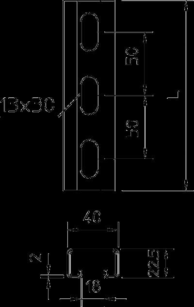 Схема Монтажная рейка усиленная — арт.: 1121960