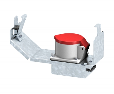 Монтажная рамка для установки силовой розетки CEE, системная длина 208 мм, с розеткой — арт.: 7407667