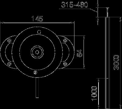 Схема Алюминиевая электромонтажная колонна ISST70140 — арт.: 6288933