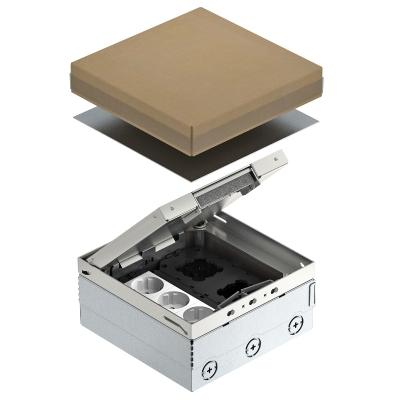 Лючок UDHome4 с монтажной коробкой GB2, укомплектованный, из нержавеющей стали — арт.: 7427200