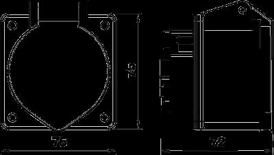 Схема Розетка CEE, 16 А — арт.: 6109874
