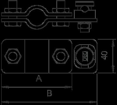 Схема Соединитель для стержней заземления и круглых проводников Rd 8-10 — арт.: 5001218