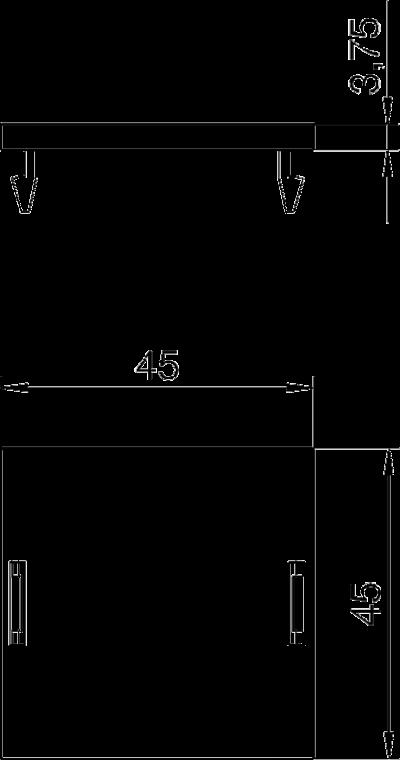 Схема Заглушка для монтажного отверстия Modul 45® — арт.: 7407584