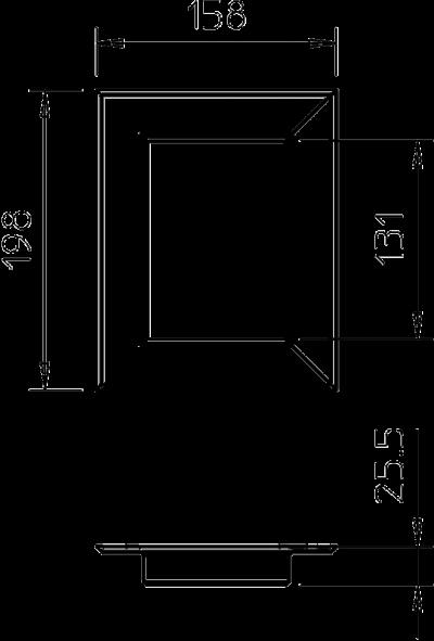 Схема Настенная торцевая заглушка из ПВХ, закрытая, для кабельных коробов 90130 — арт.: 6274960