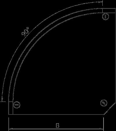 Схема Крышка угловой секции 90° 050-300 мм — арт.: 7129610