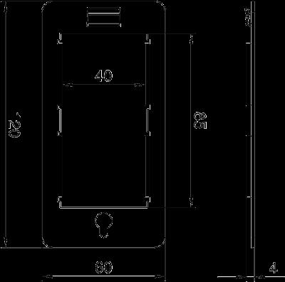 Схема Рамка для монтажа устройств Modul 45® в универсальном блоке подключения — арт.: 6108039