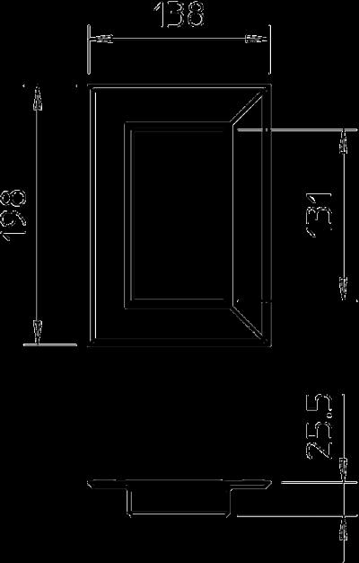 Схема Настенная торцевая заглушка из ПВХ, закрытая, для кабельных коробов 70130 — арт.: 6274860