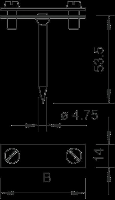 Схема Держатель для плоских проводников с квадратным штифтом — арт.: 5030021