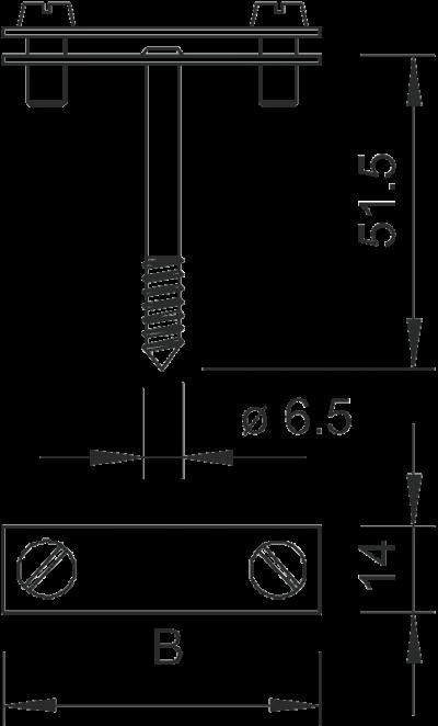 Схема Держатель для плоских проводников с шурупом — арт.: 5030242