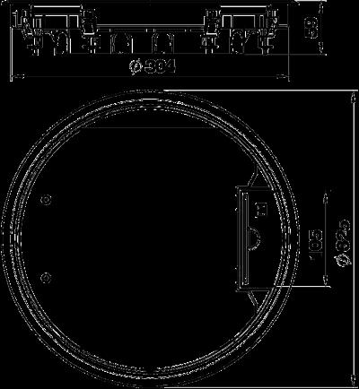 Схема Круглый лючок для установки в стяжке высотой 55 мм — арт.: 7405047
