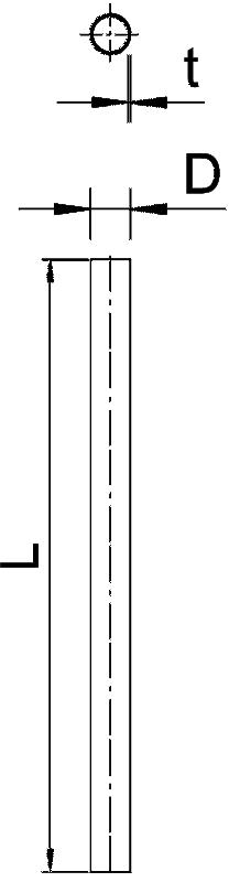 Схема Алюминиевая труба без резьбы — арт.: 2046002