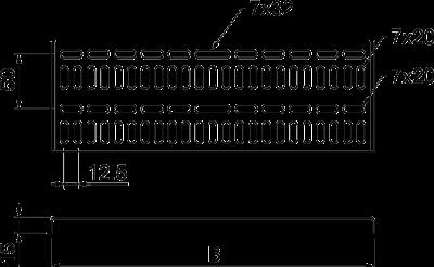 Схема Листовой кабельный лоток, морской стандарт — арт.: 6045707