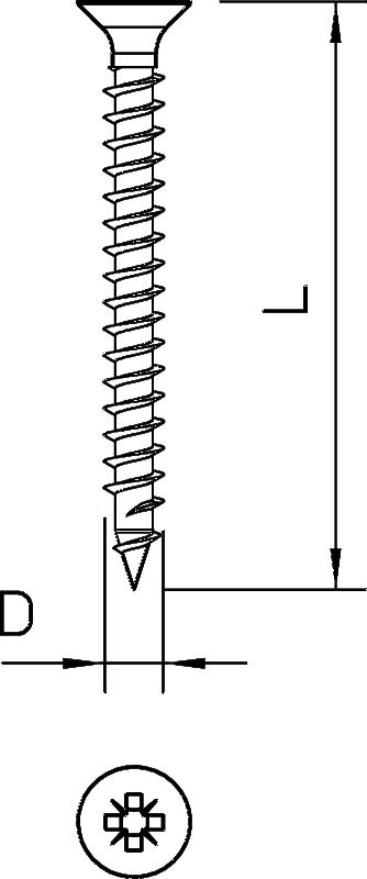 Схема Шуруп Sprint с крестообразным шлицем — арт.: 3192113