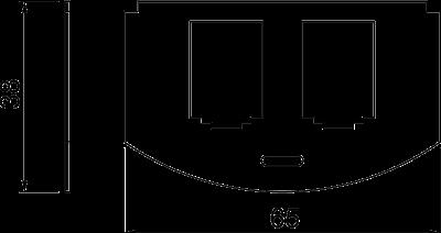 Схема Суппорт для 2х телекоммуникационных модулей типа B — арт.: 7408804