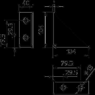 Схема Усиленный монтажный угол — арт.: 1124665