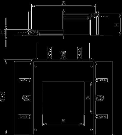 Схема Монтажная секция с крышкой для лючка GES6, высота 40 — 140 мм — арт.: 7424322