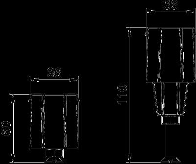 Схема Регулируемая опора крышки, для каналов высотой 60 — 110 мм — арт.: 7424842