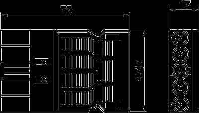 Схема Штекерный адаптер 5-полюсный, с винтовым соединением — арт.: 6108070