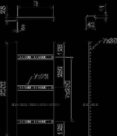 Схема Кабельный лоток лестничного типа для легких нагрузок — арт.: 7097115