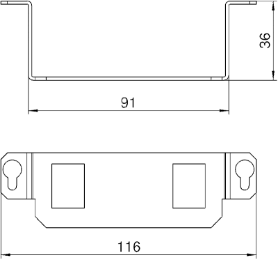 Схема Суппорт для 2х телекоммуникационных модулей типа А — арт.: 7407846