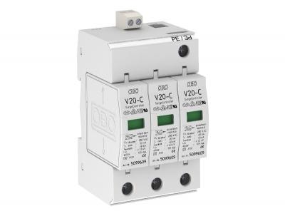 Разрядник для защиты от перенапряжений 3-полюсный, с дистанционной сигнализацией — арт.: 5094731