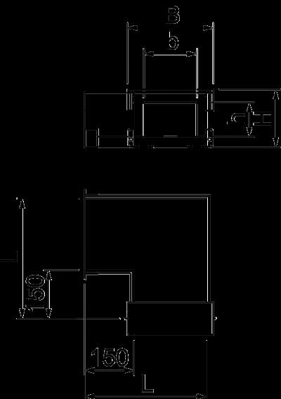 Схема Угловая секция 90° для кабельного канала с внутренней высотой 105 мм — арт.: 7215615