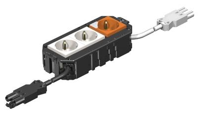 Укомплектованная монтажная коробка GB2, на 2 цепи тока, с модулем защиты от перенапряжений, длина 165 см — арт.: 7404444