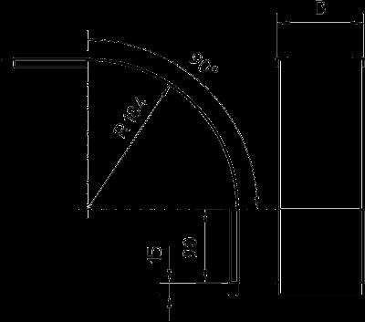 Схема Крышка вертикальной угловой секции 90° нисходящей, с боковой стенкой высотой 60 мм — арт.: 7130847