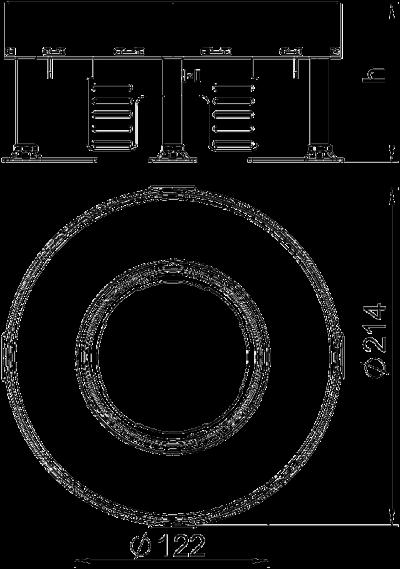 Схема Регулируемая кассетная рамка RKFR для тубуса, из нержавеющей стали — арт.: 7409422