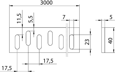 Схема Конструкционный и подвесной профиль, плоский — арт.: 7104356