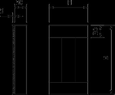 Схема Торцевая заглушка, класс огнестойкости I90/E30, для кабельного канала с внутренней высотой 105 мм — арт.: 7215256