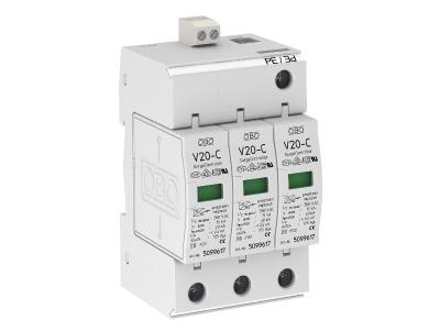 Разрядник для защиты от перенапряжений 3-полюсный, с дистанционной сигнализацией — арт.: 5094792