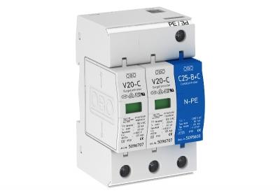 Разрядник для защиты от перенапряжений 2-полюсный + NPE — арт.: 5094641