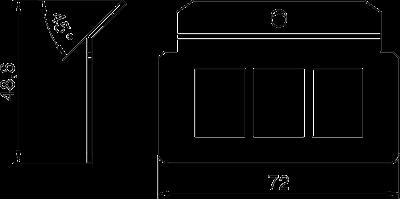 Схема Суппорт для 3х телекоммуникационных модулей типа А — арт.: 7407820