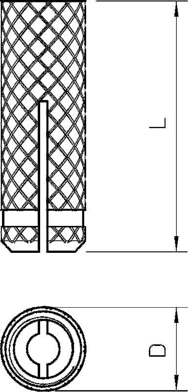 Схема Латунный распорный дюбель — арт.: 3483061