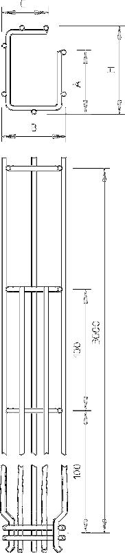Схема G-образный проволочный лоток GR-Magic° с боковой стенкой высотой 150 мм — арт.: 6005559