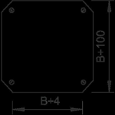 Схема Крышка крестообразной секции 050-300 мм — арт.: 7128614