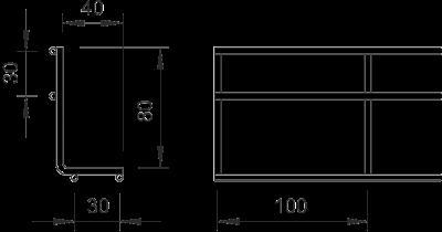 Схема Угловая секция проволочного лотка — арт.: 6003818