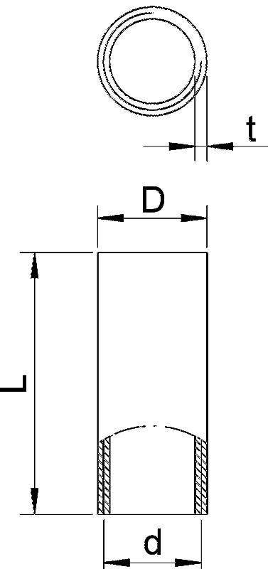 Схема Алюминиевая соединительная муфта с резьбой — арт.: 2046052