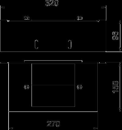 Схема Пластина для соединителя для настенного монтажа, класс огнестойкости I120 — арт.: 7216385