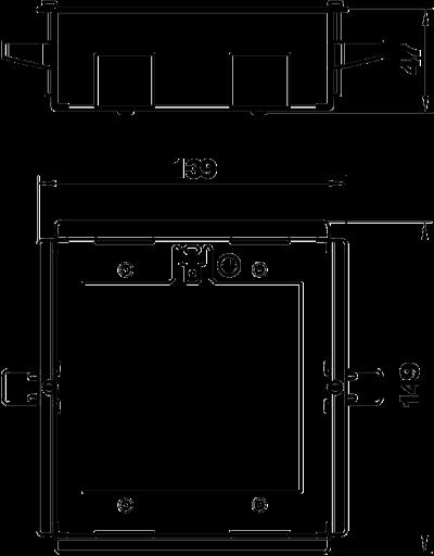 Схема Рамка Modalnet для монтажа в полую стену, для 2х двойных розеток — арт.: 6109950