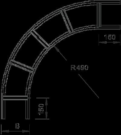 Схема Угловая секция 90° — арт.: 6217621