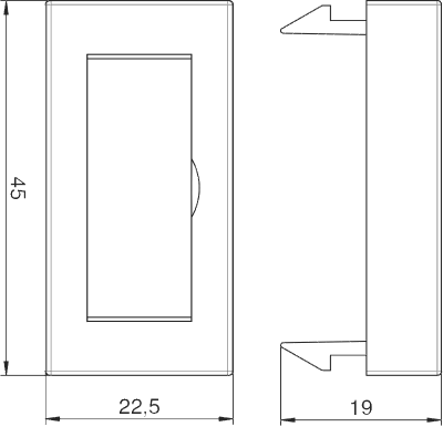 Схема Заглушка с полем для надписи, ширина 1/2 модуля — арт.: 6117410