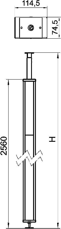 Схема Стальная электромонтажная колонна с крышкой из ПВХ — арт.: 6286540