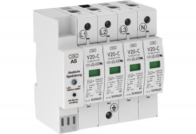 Разрядник для защиты от перенапряжений 4-полюсный, с акустической сигнализацией — арт.: 5096391