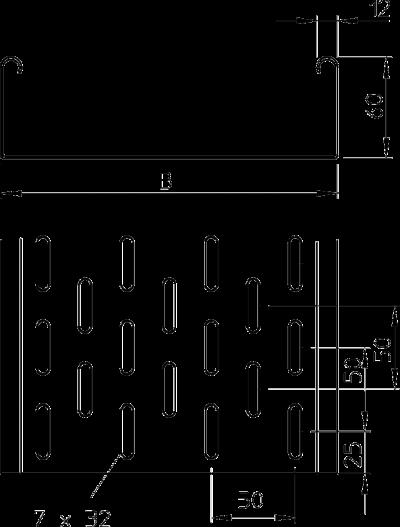 Схема Листовой кабельный лоток MKS — арт.: 6055052