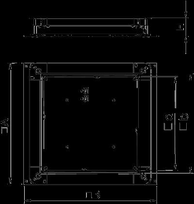 Схема Монтажное основания UZD350-3 для стяжки высотой 115 — 170 мм — арт.: 7410047