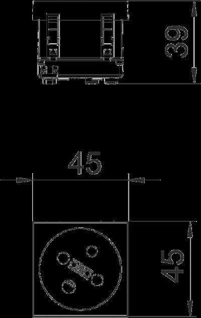 Схема Розетка 33° с заземляющим стержнем, с кодом, одинарная — арт.: 6120322